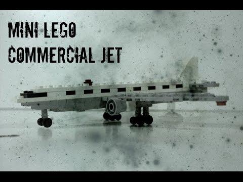 Lego Mini Commercial Jet Plane