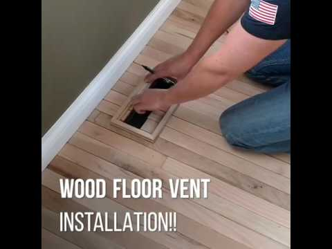 Wood floor vent installation