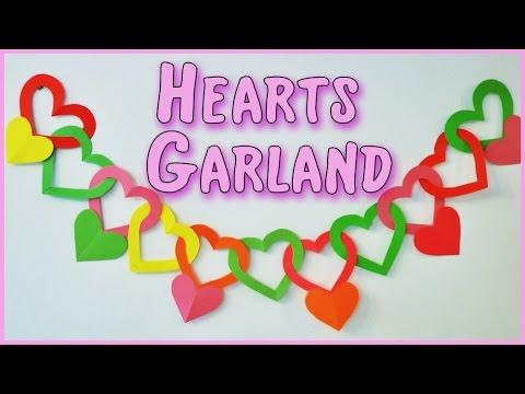 DIY crafts: Heart Garland  - Ana | DIY Crafts.