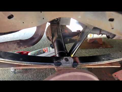 Leaf spring and shock install