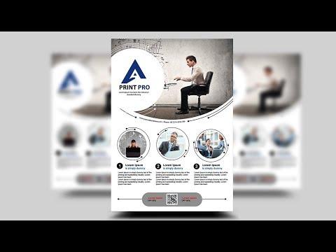 Professional Corporate Flyer | photoshop tutorials