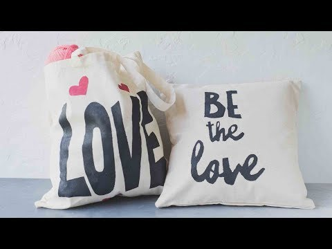Create Your Own Custom Pillow Cases and Shopping Bags with This Cool DIY