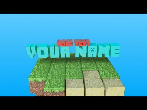 How To Make A Minecraft Channel Intro - WITHOUT Blender/Cinema4D - Free!