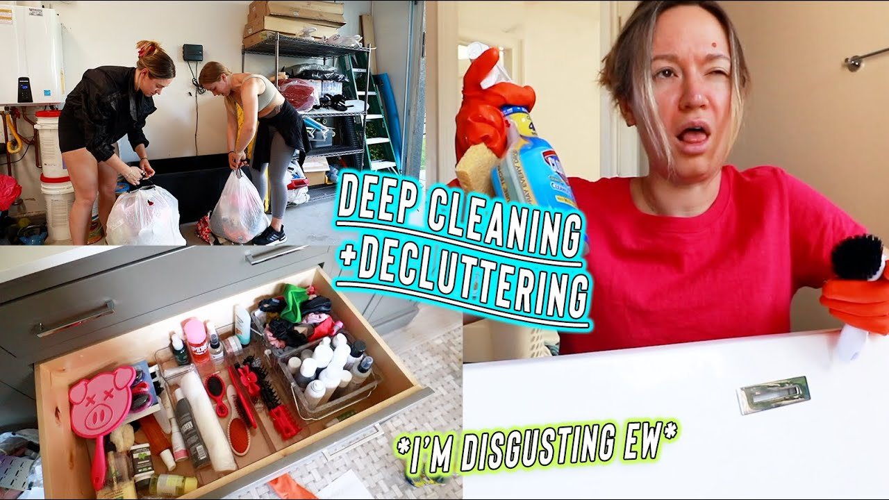 deep cleaning my entire bathroom + decluttering our garage!! *satisfying af*