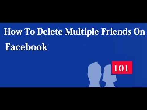How to delete multiple friends on facebook - Delete all facebook friends