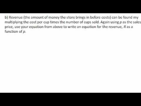 Maximizing revenue by finding vertex