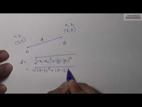 Distance Formula - How to Find Distance Between Two Points (Hindi)