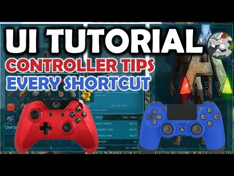 ARK Tutorial - How To Use The New UI - Controller ShortCuts Tips XBOX/PS4