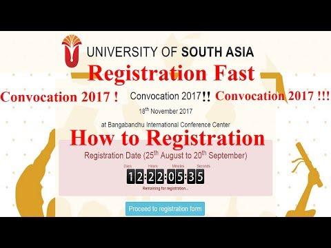 How to Registration Convocation 2017 University of South Asia Bangladesh (Unisa) | Online University