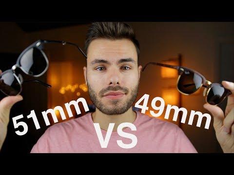 Ray-Ban Clubmaster Size Comparison 49mm vs 51mm