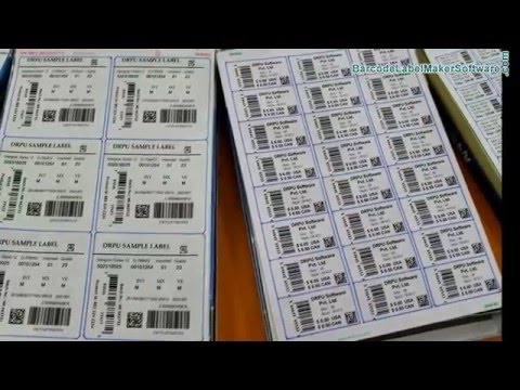 Basic requirement of laser printer to print barcode label