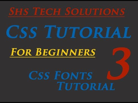 Css Tutorial for beginners - 03- How to change Font Type, Font Colors, Font Size, Font Family