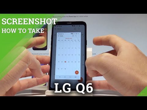 How to Take Screenshot on LG Q6 - Capture Screen / Save Screen |HardReset.Info