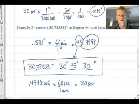 Converting Degree Minute Seconds to Decimal Degrees