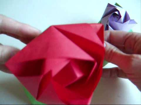 origami - modular - magic rose cube- dutchpapergirl