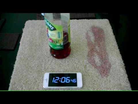 2. Concentrated Fruit Juice poured over Cream Carpet CSPdetailing.com
