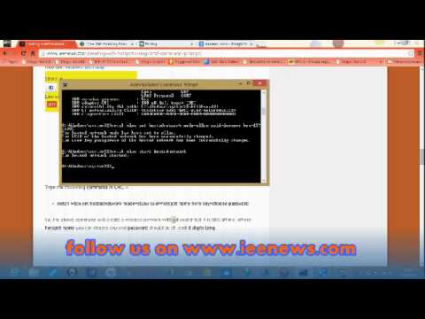 How to create a WiFi hotspot using cmd (command prompt)