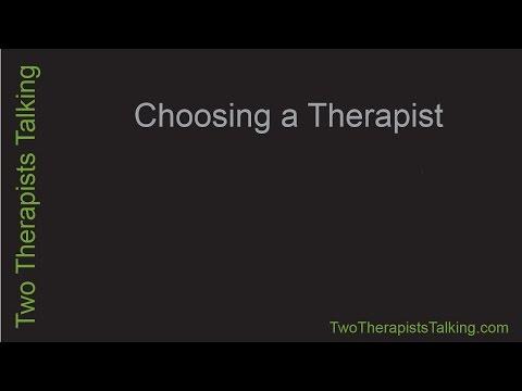 Choosing a Therapist