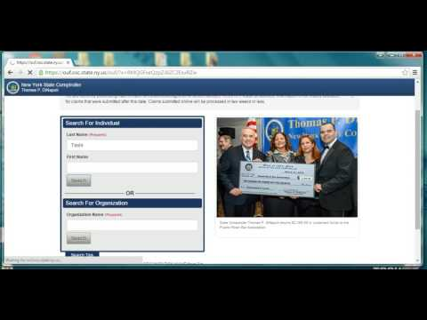 NY unclaimed funds