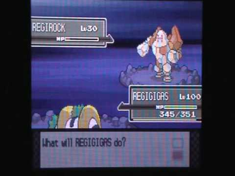 How to unlock Regirock, Regice and Registeel in Pokemon Platinum Version (Part 1)