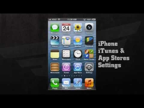 ITUNES & APP STORES SETTINGS For Iphone