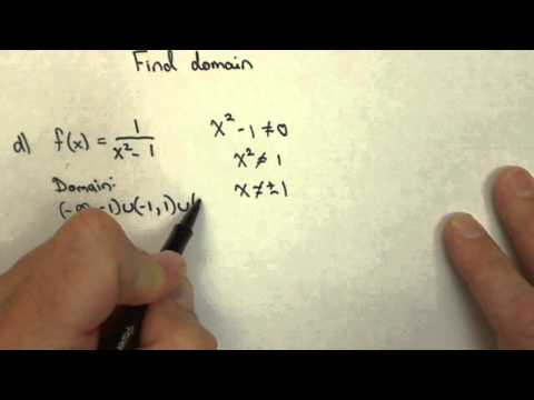 Finding Domain in Interval Notation