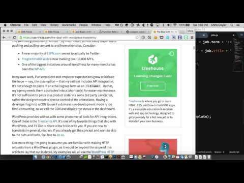 CSS-Tricks Screencast #143: WordPress Transients