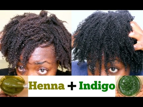 Natural Hair Dye DIY Henna & Indigo For Black Hair from Start To Finish Gray Hair dye