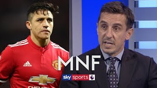 """""""He's been an absolute disaster!"""" - Gary Neville says Man United must get Alexis Sanchez out"""