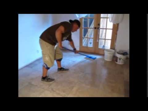 Easiest way to clean grout haze from tile floors
