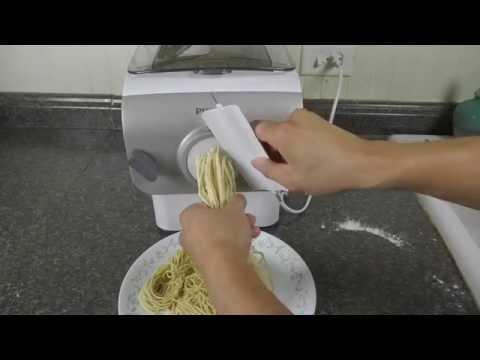 0005 Making Egg Noodle with Phillip Pasta Maker