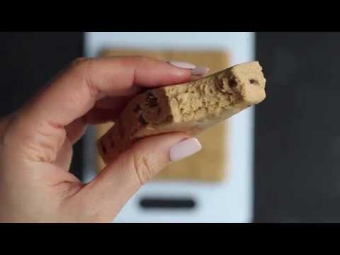 No-Bake Cookie Dough Protein Bars (low sugar, gluten free, vegan)
