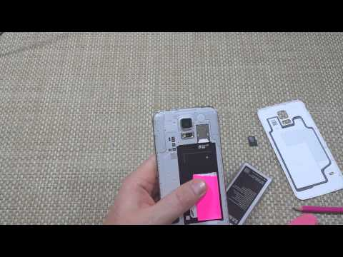Samsung Galaxy S5 How to Remove Replace and Install Micro Sim Card Insert