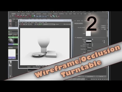Maya 102: How to Create a Wireframe Occlusion Turntable (2/4)