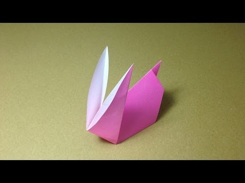How to Make a Paper Animals / Origami Rabbit / Easy for Children