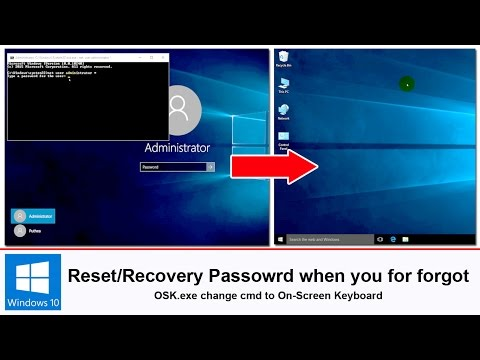 Reset or recovery forgotten password in windows 10/8/7 without using software