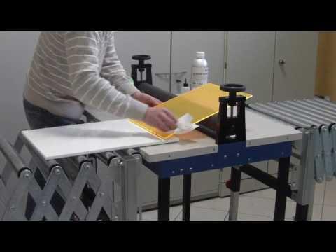 How to glue acrylic large areas * Flächenverklebung von Acrylglas