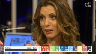Alexandra Pascalidou gör bort sig på svts valvaka
