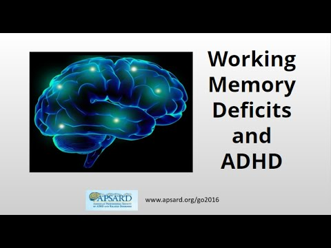 Working Memory Deficits and ADHD , ADHD in Adults