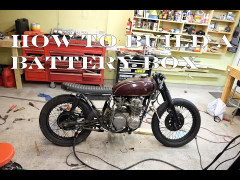 How to build a CB550 Cafe Racer / Brat : Part 6 Building a battery box
