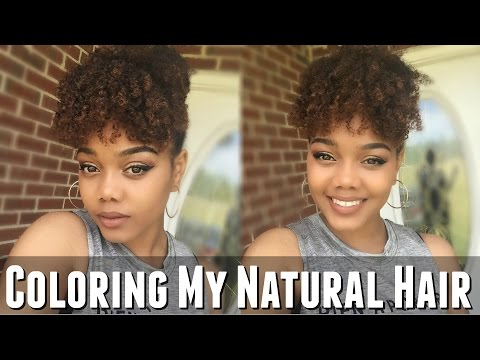 Dying My Natural Hair w/ Creme of Nature Hair Color