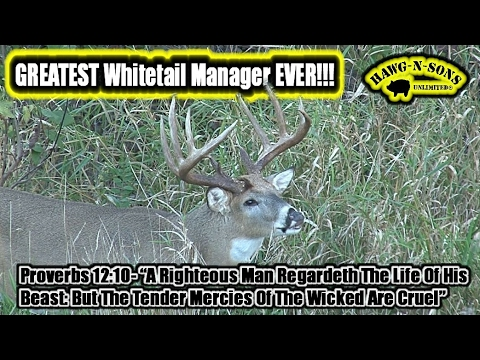 2017 Greatest Whitetail Manager Ever Reveals His Deer Hunting Enigma
