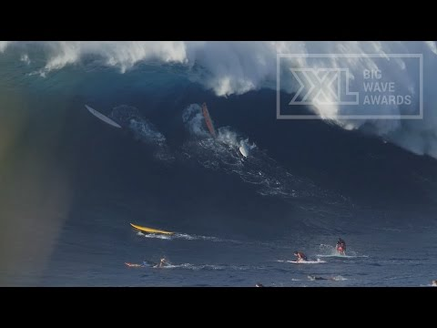 Caught inside at Jaws on Jan 21, 2015 -  XXL Big Wave Awards Moment