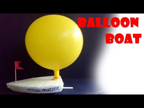 how to make balloon powered boat at home very easy