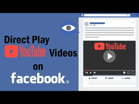 How to direct play youtube video on facebook (increase youtube video views & Subscribe)