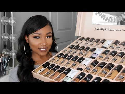 NEW COVERGIRL MATTE MADE FOUNDATION REVIEW & SWATCHING ALL 40 SHADES