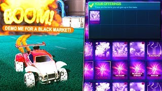 PRETENDING TO DUPLICATE ITEMS ON ROCKET LEAGUE! - Giving