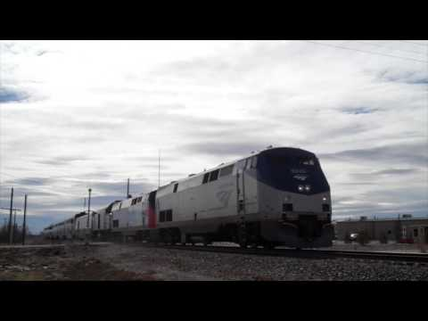 Amtrak Southwest Chief with heritage unit 156 and NPCU 90229