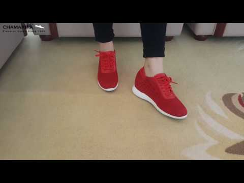 Elevator Sneaker for Women Hidden Height Insoles Shoes 2.76 Inches Taller