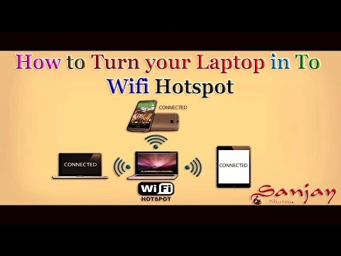 how to make wifi hotspot on windows 7 ,8 ,10  Using wifi router plus